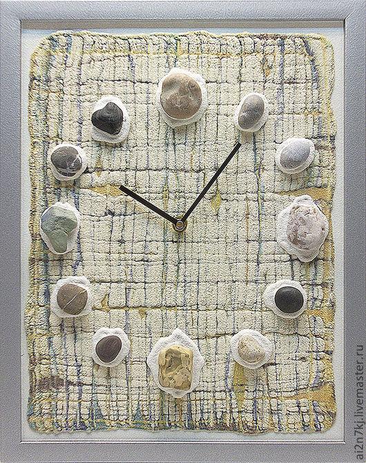 """Часы для дома ручной работы. Ярмарка Мастеров - ручная работа. Купить """"ОСТРОВА МУЖЕСТВА"""" из песка часы авторские. Handmade. Бежевый"""