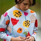 """Одежда ручной работы. Ярмарка Мастеров - ручная работа Свитер для девочки валяный """"Flowers"""". Handmade."""
