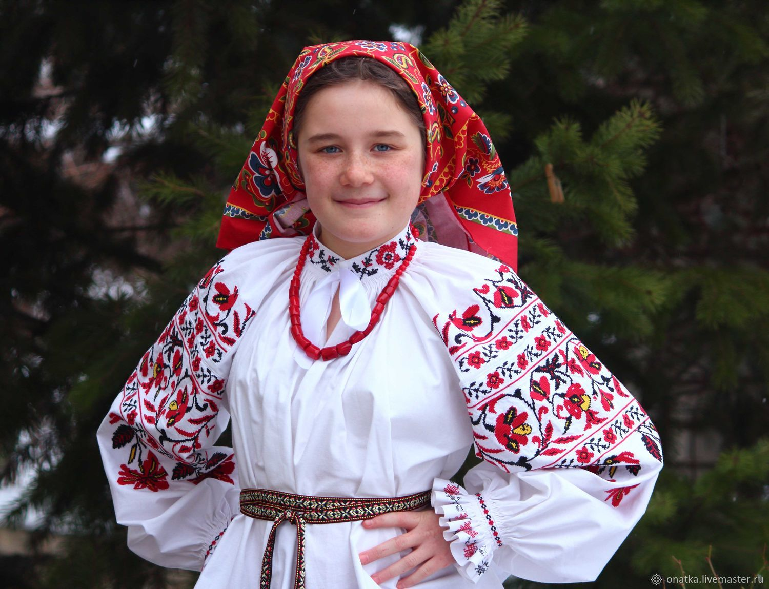 Traditional shirt of the village of Zaliman in the Voronezh province, Costumes3, Voronezh,  Фото №1