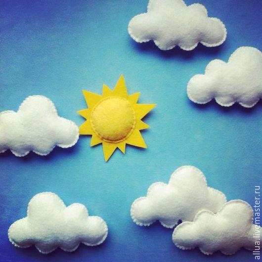 Развивающие игрушки ручной работы. Ярмарка Мастеров - ручная работа. Купить Облака из фетра. Handmade. Фетр, небо, белый, фетр