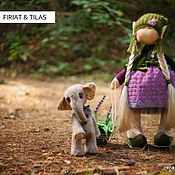 Куклы и игрушки ручной работы. Ярмарка Мастеров - ручная работа куколка Firiat & слоненок Tilas. Handmade.