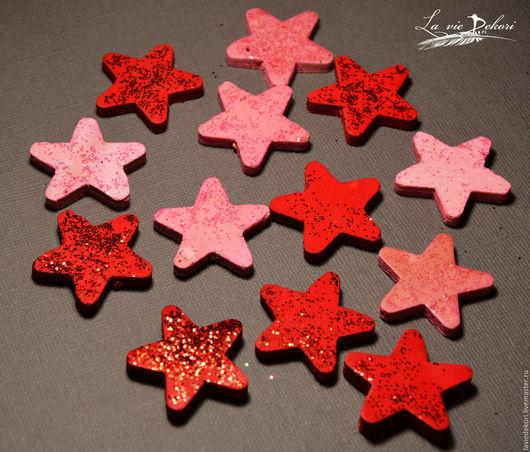 Материалы для флористики ручной работы. Ярмарка Мастеров - ручная работа. Купить Звезды деревянные, 1шт.. Handmade. Звезды деревянные, звезды
