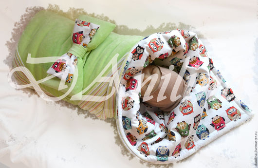 Для новорожденных, ручной работы. Ярмарка Мастеров - ручная работа. Купить Одеялко на выписку с бантом. Handmade. Разноцветный, для новорожденного