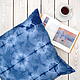 Текстиль, ковры ручной работы. Ярмарка Мастеров - ручная работа. Купить Cон рыбака — декоративная наволочка в технике шибори. Handmade.