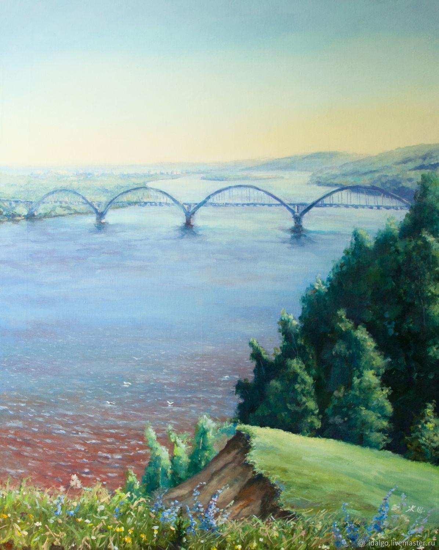 Oil painting 'Slope on the river Oka', 90-70 cm, Pictures, Nizhny Novgorod,  Фото №1