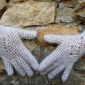 Аксессуары ручной работы. Ярмарка Мастеров - ручная работа перчатки вязаные из козьего пуха. Handmade.
