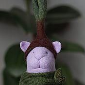 Для дома и интерьера handmade. Livemaster - original item Lilac Cat Felt Toy (handmade collectible toy). Handmade.