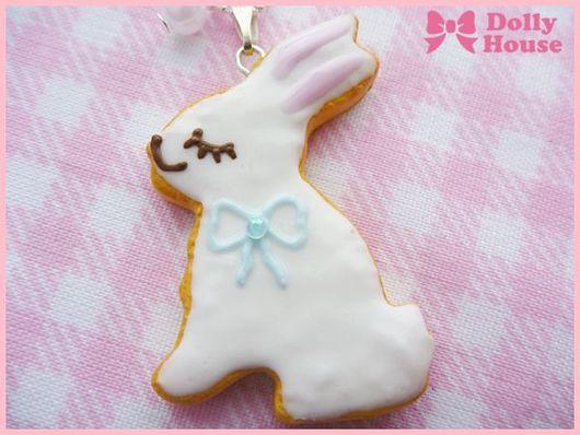 """Колье, бусы ручной работы. Ярмарка Мастеров - ручная работа. Купить Колье """"Rabbit Cookie"""". Handmade. Dolly house, sweet"""