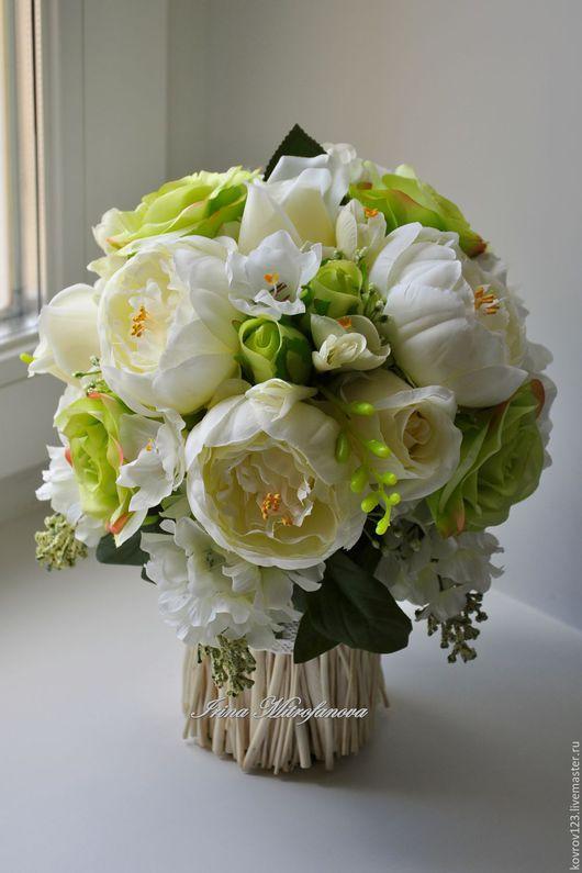 """Интерьерные композиции ручной работы. Ярмарка Мастеров - ручная работа. Купить """"СВЕЖЕСТЬ"""". Handmade. Нежная, Декор, цветы, искусственные цветы"""