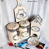 """Для дома и интерьера ручной работы. Ярмарка Мастеров - ручная работа Набор для чая и кофе """"Милый дом"""". Handmade."""