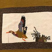 """Подарки для охотников и рыболовов ручной работы. Ярмарка Мастеров - ручная работа Плед подарок охотнику """"Мой трофей утка кряква"""". Handmade."""