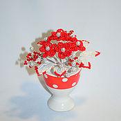 Цветы и флористика handmade. Livemaster - original item Beaded flowers