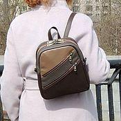 Сумки и аксессуары handmade. Livemaster - original item Women`s leather backpack brown Latte Mod P27-152. Handmade.