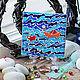 """Открытки на все случаи жизни ручной работы. Ярмарка Мастеров - ручная работа. Купить Керамическая открытка """"Океан любви"""". Handmade. Синий"""