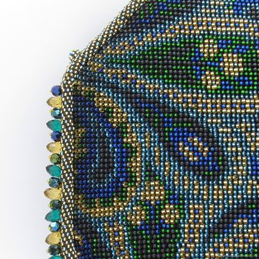 Сумки и аксессуары ручной работы. Ярмарка Мастеров - ручная работа Бисерная вечерняя сумочка Шахерезада. Handmade.