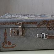 """Для дома и интерьера ручной работы. Ярмарка Мастеров - ручная работа Чемодан """"Мои путешествия..."""" декор чемодана. Handmade."""