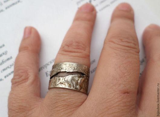 Кольца ручной работы. Ярмарка Мастеров - ручная работа. Купить Трещинка. Кольцо. Handmade. Серебряный, серебряное кольцо, оксидированное серебро