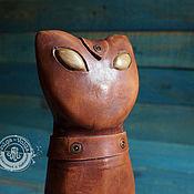 Сувениры и подарки handmade. Livemaster - original item Leather piggy Bank