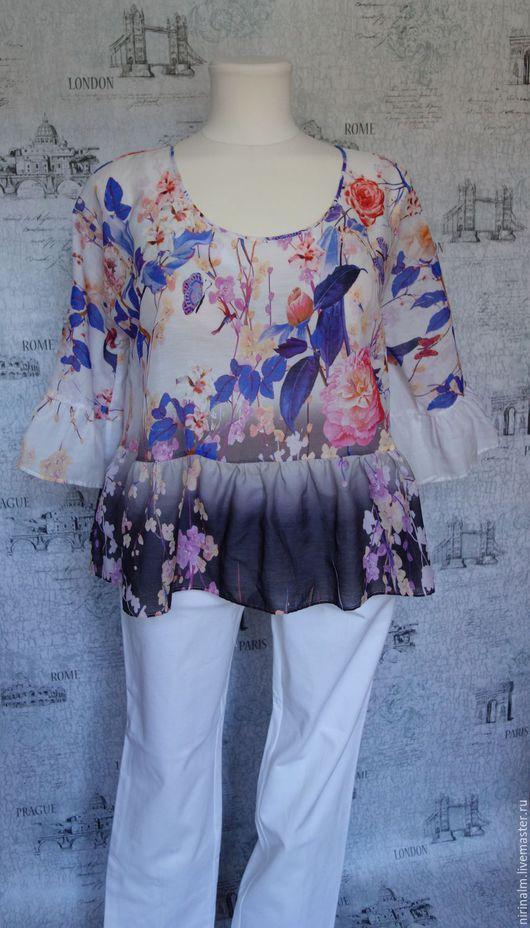 Блузки ручной работы. Ярмарка Мастеров - ручная работа. Купить Блузка воздушная. Handmade. Комбинированный, цветочный