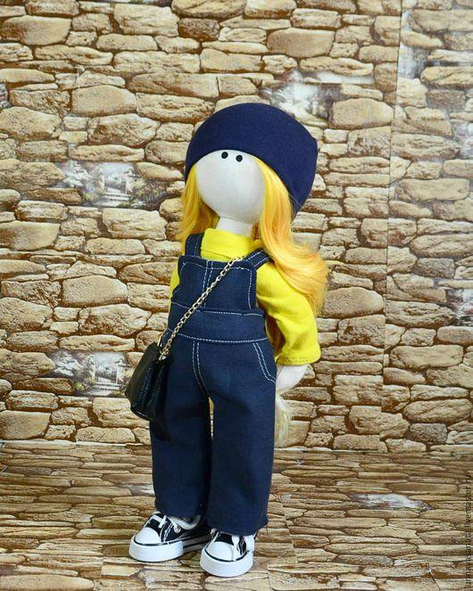 """Коллекционные куклы ручной работы. Ярмарка Мастеров - ручная работа. Купить текстильная кукла """"Солнышко"""". Handmade. Комбинированный, кукла, большеножка"""