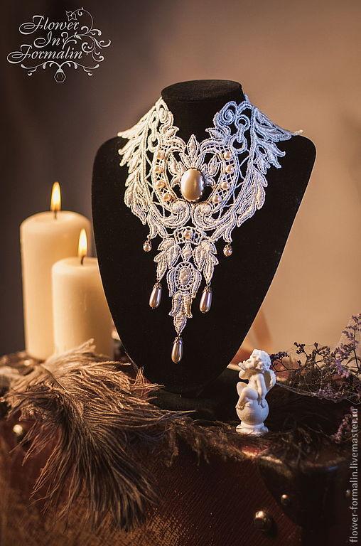 Victorian wedding set: lace choker & earrings, Wedding Jewelry Sets, Apatity,  Фото №1