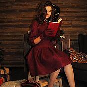 """Одежда ручной работы. Ярмарка Мастеров - ручная работа Валяное платье """"Вкус вина Marsala"""". Handmade."""