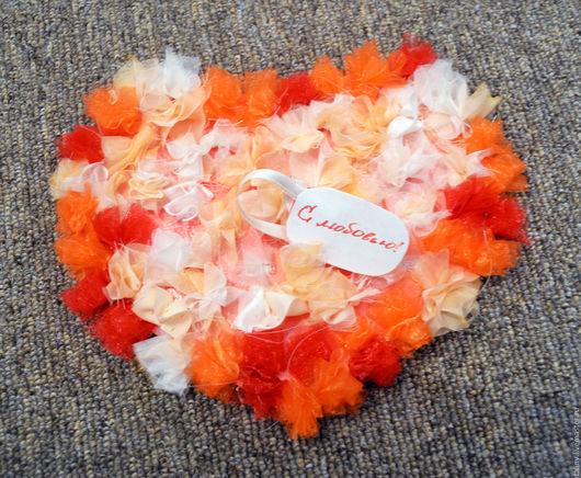 Персональные подарки ручной работы. Ярмарка Мастеров - ручная работа. Купить Поздравительная открытка с любовью. Handmade. Оранжевый, поздравительная открытка
