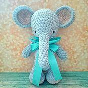Мягкие игрушки ручной работы. Ярмарка Мастеров - ручная работа Вязаная игрушка Зефирный слоник. Handmade.
