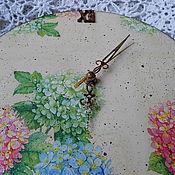 """Для дома и интерьера ручной работы. Ярмарка Мастеров - ручная работа Часы """"Гортензия"""". Handmade."""