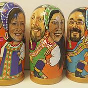 Куклы и игрушки ручной работы. Ярмарка Мастеров - ручная работа Семейный комплект - матрёшки с портретами. Handmade.