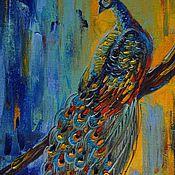 Картины и панно ручной работы. Ярмарка Мастеров - ручная работа Королевский  павлин. Handmade.
