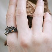 Украшения handmade. Livemaster - original item Silver ring of the mountain with yellow sapphires