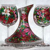 """Посуда ручной работы. Ярмарка Мастеров - ручная работа """"Клематисы в цвету"""". Handmade."""