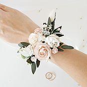 Браслеты ручной работы. Ярмарка Мастеров - ручная работа Браслет на руку - Blush flowers. Handmade.