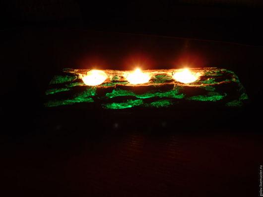 Подсвечники ручной работы. Ярмарка Мастеров - ручная работа. Купить подсвечник волшебный 3. Handmade. Зеленый, Праздник, интересное