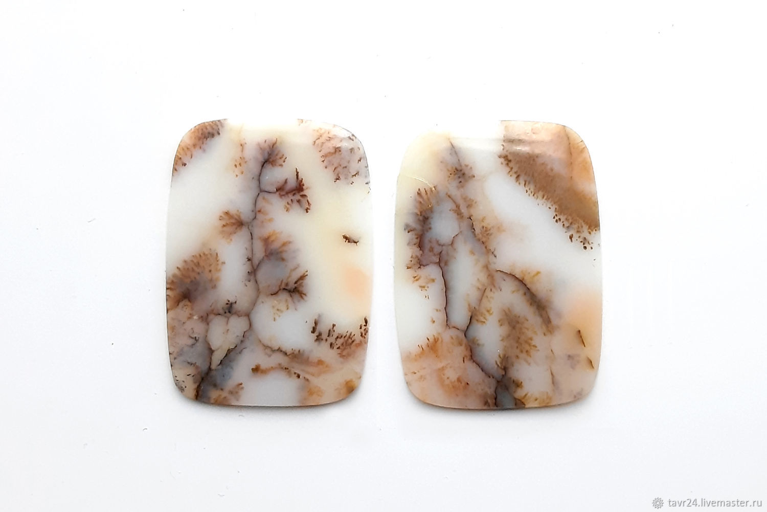 Set of moss agate cabochons No. 2-8, Cabochons, St. Petersburg,  Фото №1