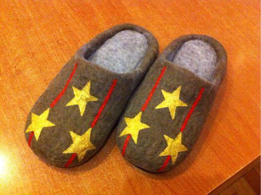 """Обувь ручной работы. Ярмарка Мастеров - ручная работа. Купить Тапочки """"Настоящий полковник/подполковник"""". Handmade. Тапочки, подарок военным"""