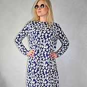Одежда handmade. Livemaster - original item Maxi dress from fury. Handmade.