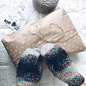 Mittens handmade. Livemaster - original item Rainbow colored mittens. Handmade.