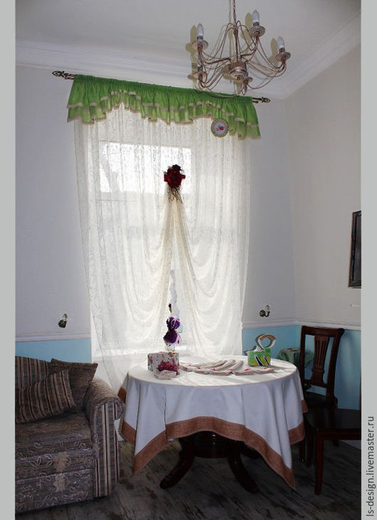 """Текстиль, ковры ручной работы. Ярмарка Мастеров - ручная работа. Купить Шторы """"Бурже"""". Handmade. Комбинированный, шторы для дома"""
