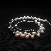 Украшения handmade. Livemaster - original item Necklace Pearls. Pearl natural, silver, handmade. Handmade.