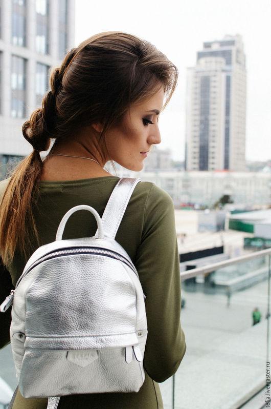 Женский рюкзак Tefia SW White-Silver Mini