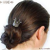"""Украшения ручной работы. Ярмарка Мастеров - ручная работа """"Корона 5 лучей"""" Заколка для волос (шпилька). Handmade."""