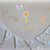 Для дома и интерьера ручной работы. Ярмарка Мастеров - ручная работа Гирлянда из флажков детская Happy Baby. Handmade.