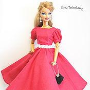 """Куклы и игрушки ручной работы. Ярмарка Мастеров - ручная работа Платье для Барби """"Фуксия"""". Handmade."""
