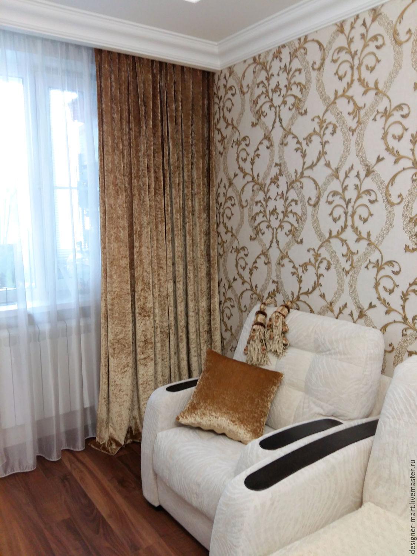 Order Gold Velvet Curtains For Living Room.