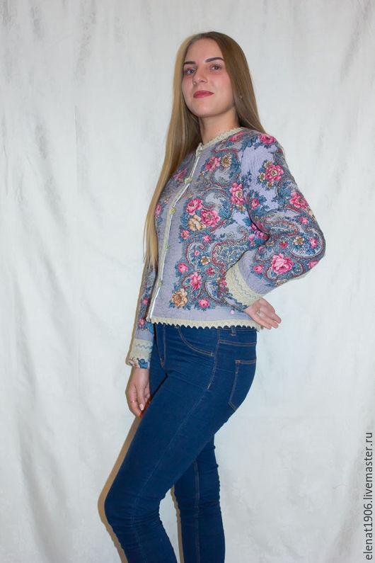 """Пиджаки, жакеты ручной работы. Ярмарка Мастеров - ручная работа. Купить Жакет из валяной шерсти """"В стиле джинс"""".. Handmade."""