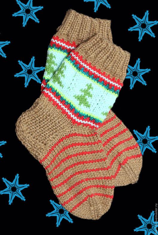Носки, Чулки ручной работы. Ярмарка Мастеров - ручная работа. Купить Носки вязаные на спицах. Handmade. Комбинированный, хендмейд