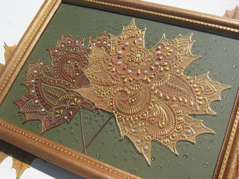 Роспись на кленовом листе