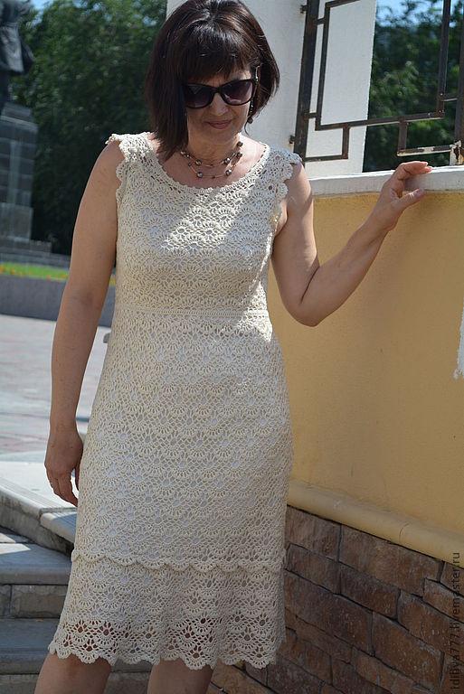 """Платья ручной работы. Ярмарка Мастеров - ручная работа. Купить Платье """" НИЖОНИ"""". Handmade. Белый, шелковое платье"""